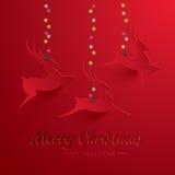 Rudolph Reindeer. Greeting Card. Stock Image
