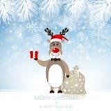 Rudolph Reindeer mignon - illustration Photographie stock