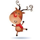 Rudolph Reindeer que siente excitado ilustración del vector