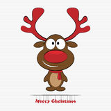 Rudolph reindeer red nose Royalty Free Stock Photography