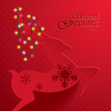 Rudolph Reindeer. Seasons Greetings. Stock Photography
