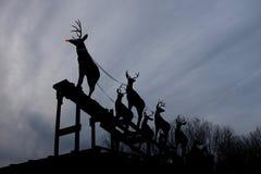 Rudolph rewolucjonistka Ostrożnie wprowadzać Reniferowego Przygotowywającego wodowanie zdjęcie royalty free