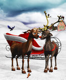 Rudolph´s love. 3d render of rudolph´s love Stock Image