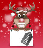 Rudolph Sale Foto de Stock Royalty Free