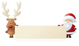 Rudolph and Santa Announce Stock Image