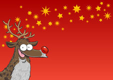 Rudolph with stars Royalty Free Stock Images