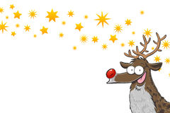 Rudolph with stars Stock Images