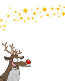 Rudolph with stars Stock Photo