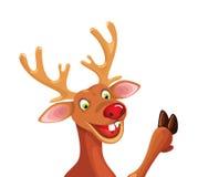 Rudolph Szczęśliwi boże narodzenia Reniferowi Zdjęcie Royalty Free