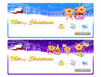 Rudolph  using a variety of banner designs Stock Image