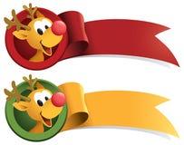 Rudolph-Weihnachtsweb-Farbband Lizenzfreie Stockbilder