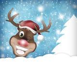 Rudolph Wink Christmas Winter ilustración del vector
