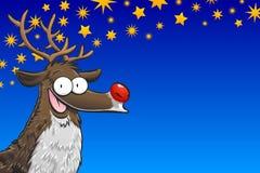 Rudolph z gwiazdami Zdjęcie Stock