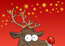 Rudolph zerkanie Obraz Royalty Free