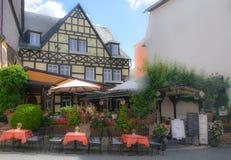 rudsheimï ¼的ŒGermany一家可爱的餐馆 图库摄影