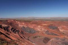 Rudy żelaza kopalni jamy Pilbara regionu zachodnia australia Obraz Stock