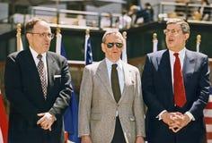 Rudy Giuliani,托尼Randall和马文Hamlisch 图库摄影
