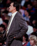 Rudy Tomjanovich, βασικός προπονητής των Houston Rockets Στοκ Εικόνες