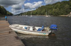 Free Rudyard Lake, England - The Boats And The Clouds. Royalty Free Stock Photos - 127588238