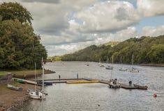 Free Rudyard Lake, England - Trees And Boats And Cloudy Skies. Royalty Free Stock Photo - 127587305