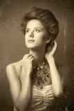 Rudzielec edvardian kobiety Fotografia Royalty Free