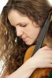 rudzielec skrzypce kobieta Obraz Royalty Free