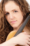 rudzielec skrzypce kobieta Zdjęcia Royalty Free