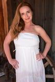 Rudzielec w bielu Fotografia Royalty Free