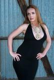 Rudzielec w czerni Zdjęcie Stock