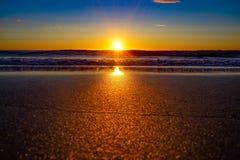 Rudzików kapiszonów zatoka w Yorkshire przy wschodem słońca Zdjęcia Royalty Free