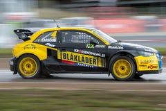 Rudzik LARSSON Barcelona FIA Rallycross Światowy mistrzostwo Obraz Royalty Free