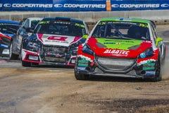 Rudzik LARSSON Barcelona FIA świat Rallycross Zdjęcia Royalty Free