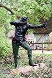 Rudzika kapiszonu statua Zdjęcia Stock