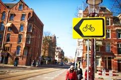 Rue à Amsterdam, Pays-Bas Photo stock