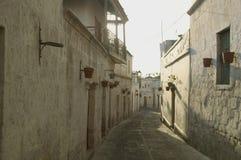 Rue à Arequipa image libre de droits