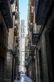 Rue à Barcelone Images libres de droits