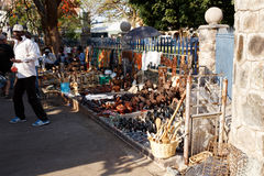 Rue à Bulawayo Zimbabwe Images libres de droits
