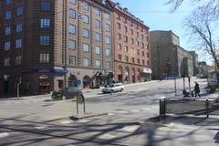 Rue à Gothenburg, Suède Photo stock