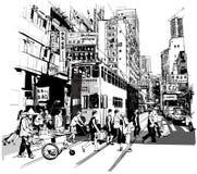 Rue à Hong Kong illustration stock