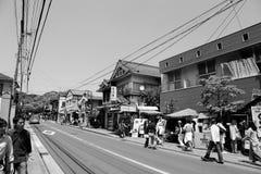 Rue à Kamakura, Japon Images libres de droits