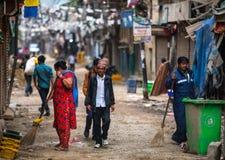 Rue à Katmandou photo stock