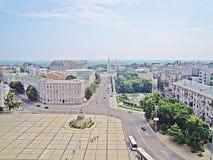 Rue à Kiev (Ukraine) Photos libres de droits