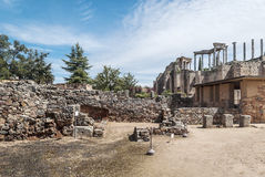 Rue à l'amphithéâtre romain Photos stock
