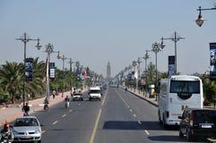 Rue à Marrakech Images libres de droits
