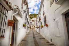 Rue à Mijas, Espagne photos libres de droits