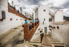Rue à Mijas, Espagne Image libre de droits