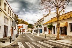 Rue à Mijas, Espagne Photographie stock libre de droits