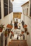 Rue à Mijas, Espagne Images libres de droits