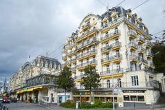 Rue à Montreux, Suisse Photos libres de droits