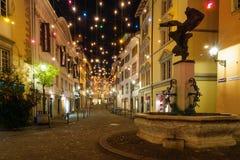Rue à Noël, Zurich Photo stock
